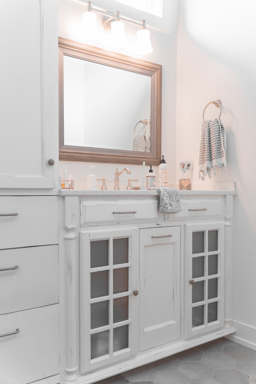 Painted bathroom cabinets in Holland residential home